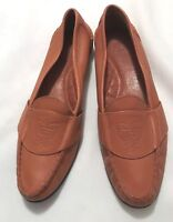 LIZ CLAIBORNE Womens Lt. Brown Leather Loafers-Size 8.5 Narrow-Leather Soles-EUC