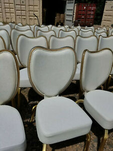 Infanti Off-white All-Vinyl banquet/ Ballroom chair