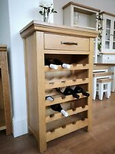 MODERN OAK WINE RACK / CABINET - 20 BOTTLE CAPACITY - LIVING ROOM - KITCHEN