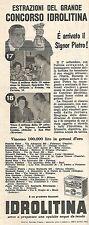 W8817 Estrazione del Concorso IDROLITINA - Pubblicità del 1958 - Vintage advert
