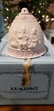 Lladro 1987 Jasperware Fine Porcelain Christmas Bell Ornament~Never Used W/Box