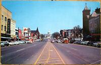 1963 Chrome Postcard: Dexter Street & State Capitol - Montgomery, Alabama AL