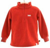 HELLY HANSEN Boys Fleece Jumper 4-5 Years Red Polyester  KU19