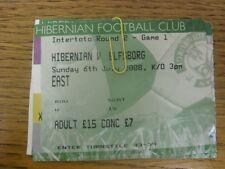 06/07/2008 BIGLIETTO: Hibernian V ELFSBORG [COPPA UEFA INTER TOTO] (piegato, piegato).