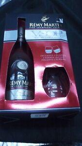 remy martin coffret bouteille fine champagne cognac vsop + 2 verres neuf scellé