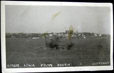 KIRON Iowa ~ 1920's TOWN VIEW ~ EISENTRAUT Real Photo PC   RPPC