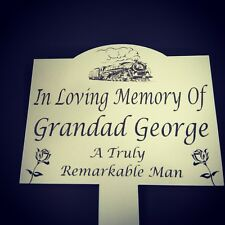 Memorial Plaque Stake - Personalised,Outdoor, Grave marker ,  Plant  Waterproof