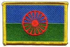 Sinti und Roma Aufnäher Flaggen Fahnen Patch Aufbügler 8x6cm