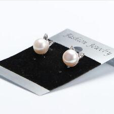 1 Pair Fashion Silver Plated Korea Chic Pearl Cat Kitten Head Ear Stud Earrings