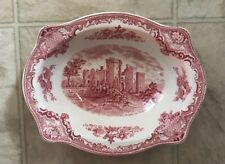 Johnson Bros Old Britain Castles Pink Oval Serving Vegetable Bowl 9""
