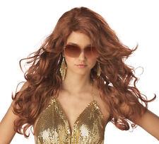 Sexy Super Model Rock Star Adult Costume Wig - Auburn