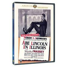 ABE LINCOLN IN ILLINOIS(DVD-R, 2010)RAYMOND MASSEY GENE LOCKART RUTH GORDON MARY