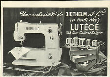 VIETNAM SAIGON PUBLICITE DIETHELM MACHINE A COUDRE BERNINA SEWING MACHINE  1953