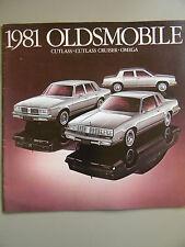 1981 Oldsmobile Brochure- Cutlass, Cutlass Cruiser & Omega-27 Pages