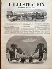 L'ILLUSTRATION 1844 N 75 FÊTES DE JUILLET A PARIS : LES CHAMPS ELYSEES