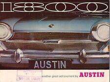Austin 1800 Mk1 1967-1968 UK Market Sales Brochure Standard De Luxe Landcrab