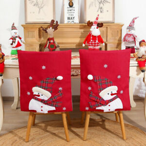 Christmas Decor Chair Covers Dining Seat Cover Santa Claus Home Party Decoration