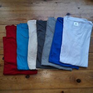 7 small MENS tee unisex BUNDLE Tshirt pack T-shirts plain job lot mixed C cheap