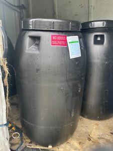 *WE DO NOT SHIP* Empty FOOD GRADE 55 Gallon ORANGE PLASTIC BARREL DRUM - Water