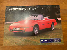 RELIANT SCIMITAR SS1 1400 brochure - 1989