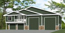 60x44 Apartment with 2-Car 2-RV Garage - PDF FloorPlan - 1,415 sqft - Model 1B
