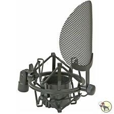Nady SSPF-4 Microphone Curved Vocal Pop Filter w/ Spider Shock Mount