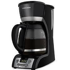 American Motorhome RV 110 Volt  12 Cup Coffee Maker Black and Decker