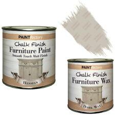 Paint Factory Chalk Chalky Furniture Paint 250ml Hessian + 0.2L Dark Wax