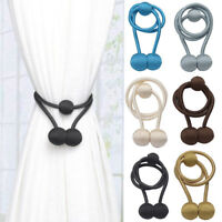 1X Curtain Holder Magnet Buckle Tieback Magnetic Strap Tie-Backs Home Decor Lots