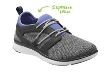 NEW in box Women's SUPERFEET Lora Casual Sneakers Shoes Black/Marlin Size 8.5