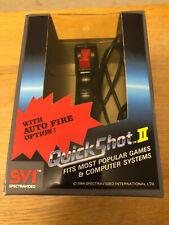 Quick Shot II 2 Joystick in Box for Atari, Commodore, Spectrum, Amiga etc. VGC.