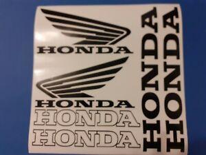 Hochqualitatives 6Teiliges Honda Motorrad Sticker Aufkleber Set in Schwarz.