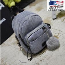 US Women Small Backpack School Shoulder Book Bag Girls Travel Handbag Rucksack