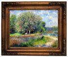 Renoir Chestnut in Blossom 1881 Wood Framed Canvas Print Repro 11x14