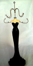 Chic Jewelry Hanger Holder Stand Necklace Rings Bracelet Black Dress