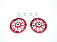 HG 19mm Alum. Red Rollers (Radiation) For Tamiya Mini 4WD 15160