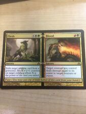 MTG FLESH BLOOD 1x x1 DRAGON'S MAZE RARE MAGIC GATHERING CARD GOLD SPLIT FUSE EX