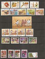 Cape Verde SC # 569 T0 591 Complete sets , turtles, Soccer, Fairy tales ETC. MNH