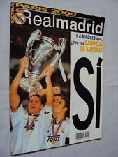 REAL MADRID Europe Champion 2000 Magazine