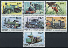 Guinea-Bissau Steam Trains Stamps 1984 MNH Locomotives Railways Rail 7v Set