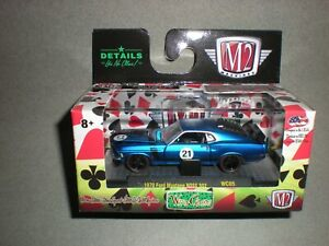 1/64th M2 Machines Wild Cards R5 1970 Ford Mustang BOSS 302 Blue
