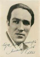 Opera - Autografo del baritono Armando Borgioli