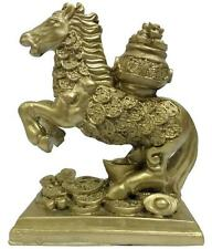 FENG SHUI HORSE WITH WEALTH POT FOR VICTORY AND LUCK