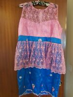 African high quality George lace dress multi colours SIZE 20