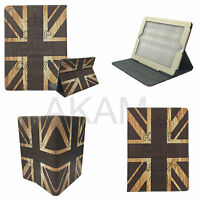 PU Leather Brown Vintage Union Jack Book Case Cover iPad 2 3 & Samsung Tab p3200