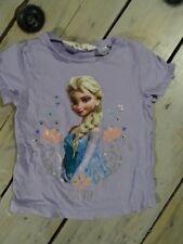 T-shirt manches courtes parme imprimé Elsa LA REINE DES NEIGES Taille 2 / 4 ans