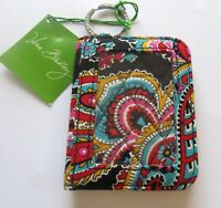 Vera Bradley Parisian Paisley Campus Double ID Card Case -pink yellow red black