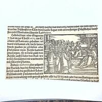 RARE Ca. 1500 Woodcut Print Munsters Cosmographia German Wood Block Incunabula C