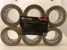 6 tan packing tape EZ.simply ( 2''x 110 yds) 2.0 mil  buy 2 get 1 free