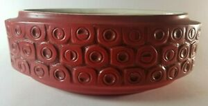 "Large Stunning MCM McCoy Pottery Scandia Red 35 Oval Planter: 11.5""Wx5.5""Dx4.5""H"